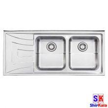 سینک آشپزخانه روکار ۷۳۶/۶۰ استیل البرز