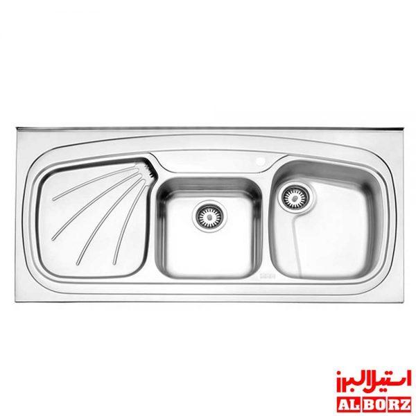 سینک استیل البرز مدل 614/60 روکار