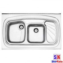 سینک استیل البرز مدل ۶۱۱/۶۰ روکار